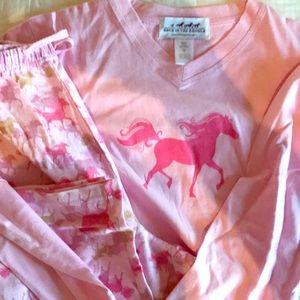 Brand New Horse pajama set BACK IN THE SADDLE